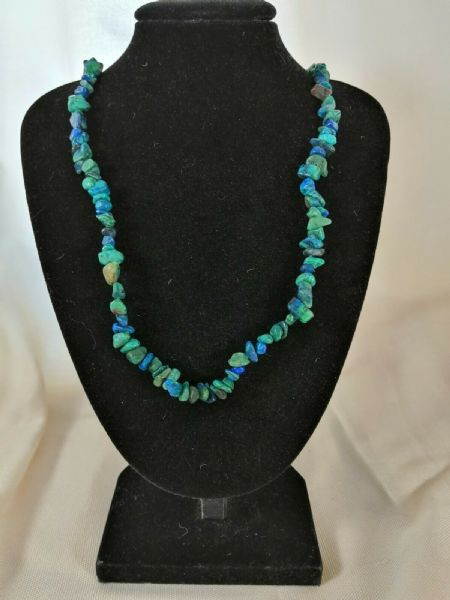 "Chrysocolla Chip Necklace 16"" to 34"", Long Necklace, Short Necklace"